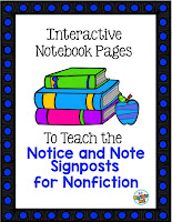https://www.teacherspayteachers.com/Product/Interactive-Notebook-Pages-for-the-Notice-and-Note-Signposts-for-Nonfiction-2606657