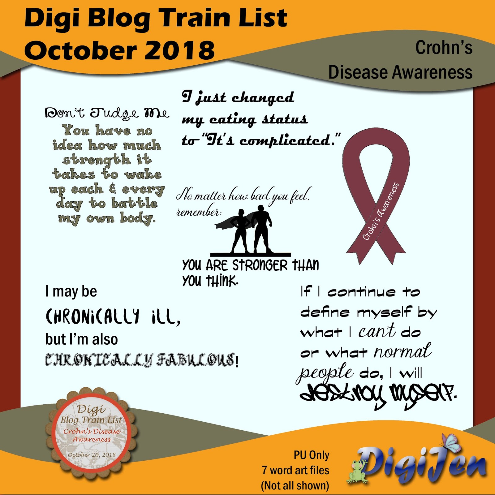 Digijen Scraps Dbtl Crohn S Disease Awareness