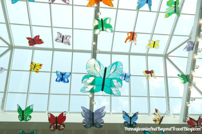 Butterfly Atrium at Hershey Gardens in Hershey Pennsylvania