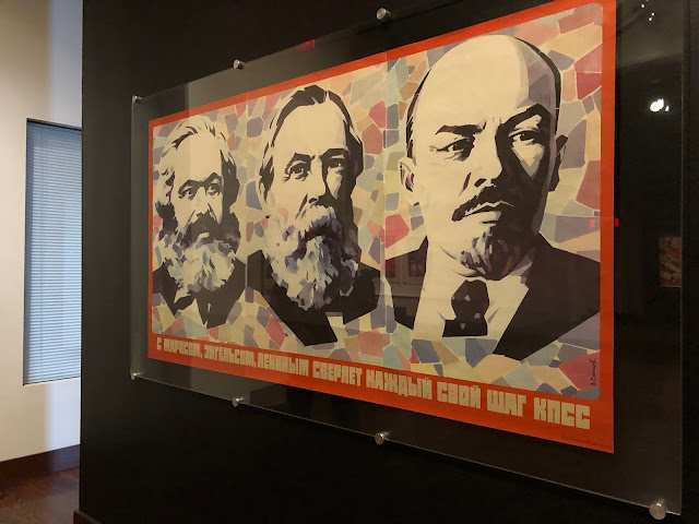 Marx, Engels and Lenin featured in Soviet propaganda on display at The Museum of Russian Art