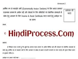 [Form] EWS प्रमाण पत्र राजस्थान आवेदन ऑनलाइन   Rajasthan EWS Certificate PDF