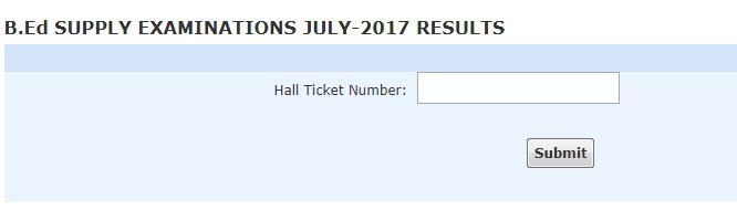 Acharya Nagarjuna University ANU B.Ed Exam Results