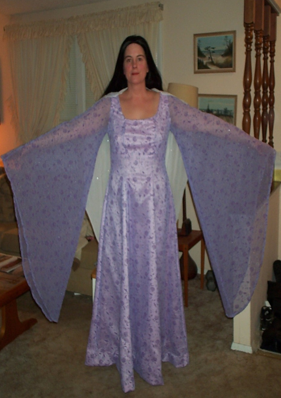 Arwen's Lavender Beaded Gown by Donna