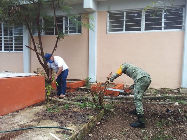 jército Mexicano realiza actividades de Labor Social en escuela primaria