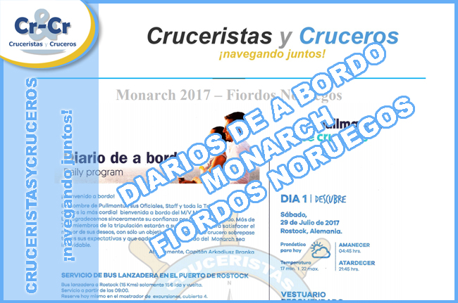 DIARIOS DE A BORDO: MONARCH - FIORDOS NORUEGOS