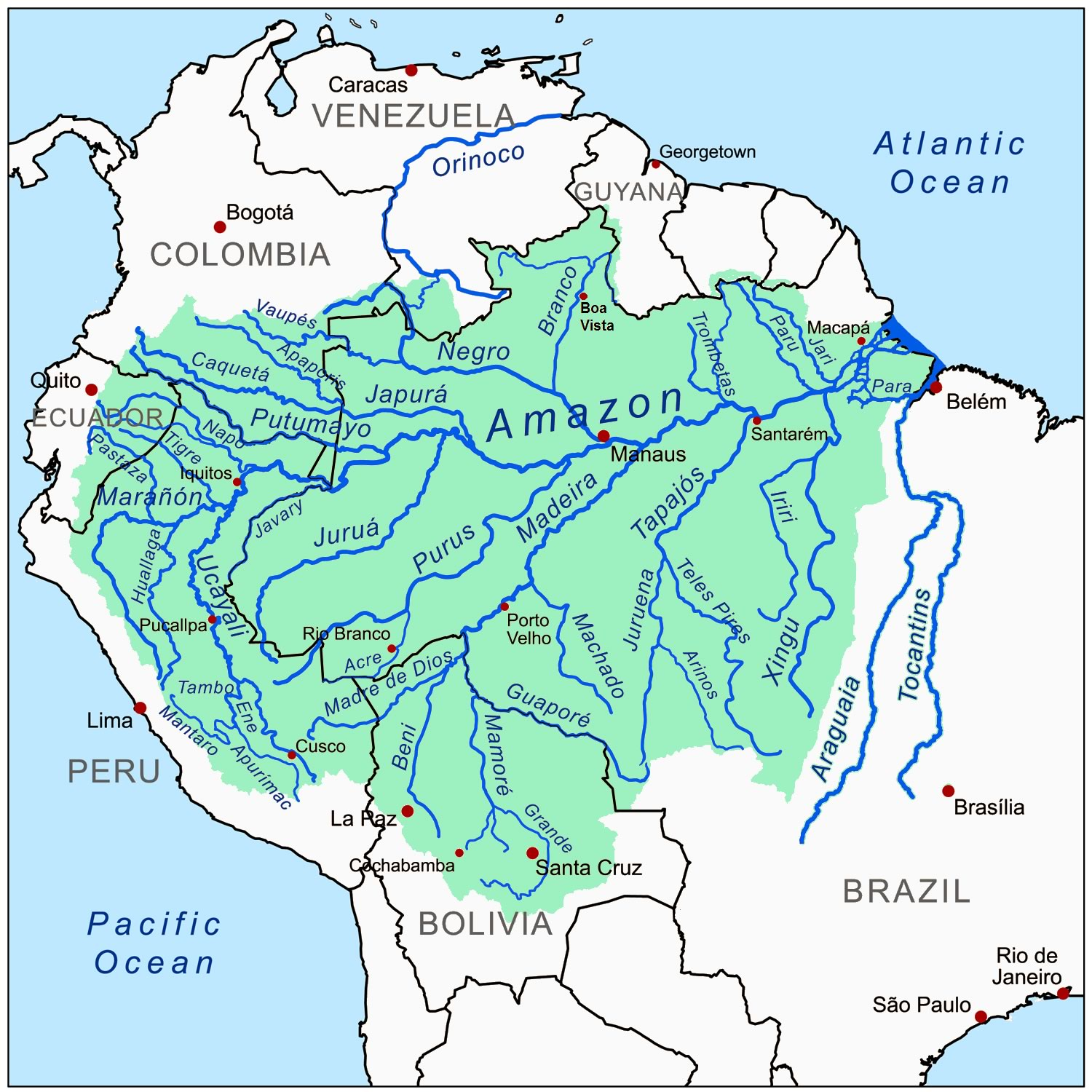 Infographics Maps Music And More November - Amazon river map