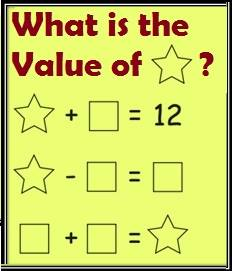 Math Equations Riddle with Shapes