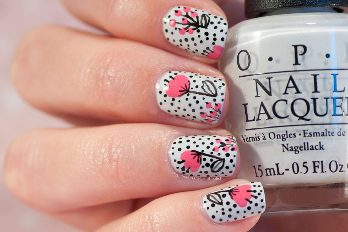Playful Pattern Nail Art Design