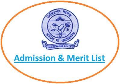 Kidderpore College Merit List