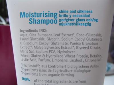 eco cosmetics hydratačný šampón zloženie