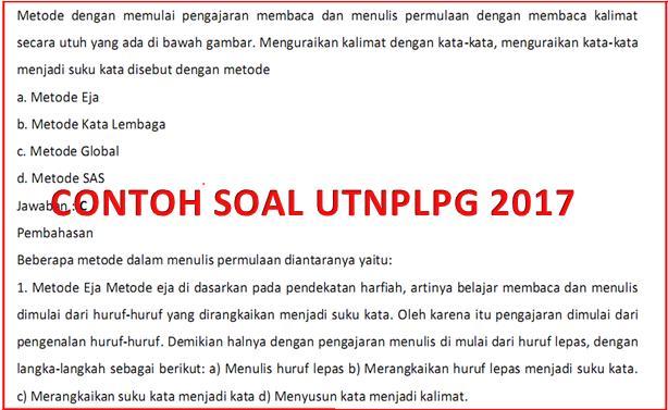 Contoh Soal Utn Ukg