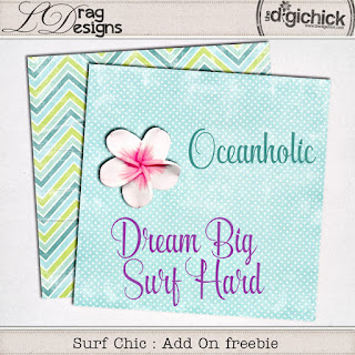 Creative Team for LDrag Designs - Surf Chic and Coordinating Freebie Mini Kit