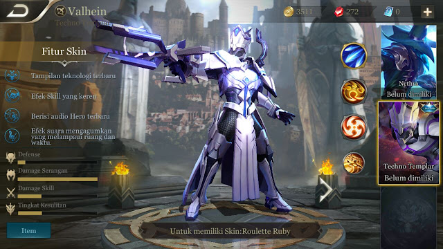 Hero Valhein Dalam Game Mobile Arena