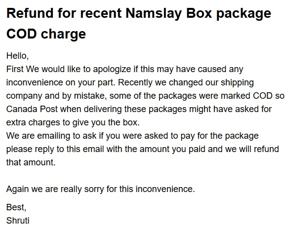 When I Looked More Closely At My Box, It Looks Like Namaslay Is Now  Shipping From The US Via DHL. DHL Is The Absolute Worst. Please, Please,  Please   If You ...