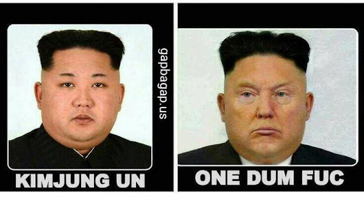 Kim jung un and Donald one Dum Fuc