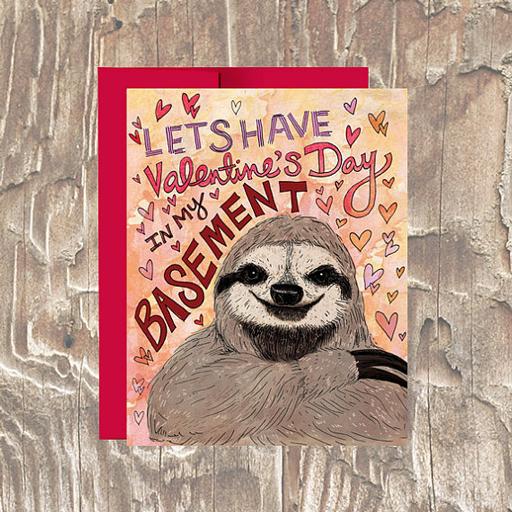 Sloth Vday Card - Erin Clark - Inked in Red