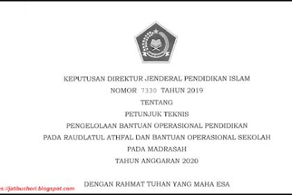 Juknis Pengelolaan BOS untuk Madrasah Tahun 2020