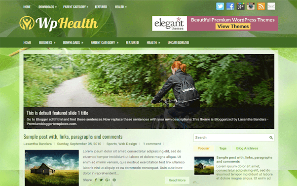 WpHealth Free Blogger Template