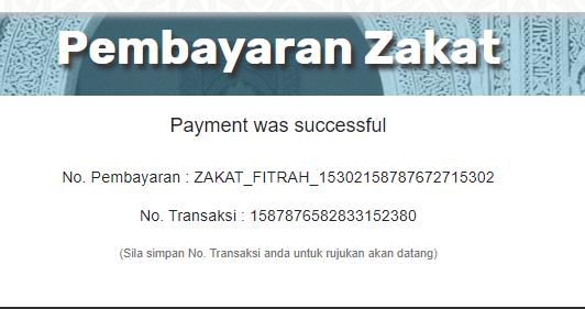 cara cara pembayaran zakat secara online