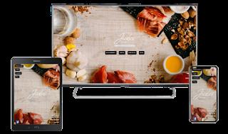 Diseño responsive en web restaurante