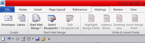 Cara Cara Membuat Mail Merge Di Excel