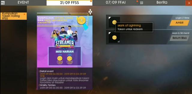 Kali ini kami akan membahas tentang game Free Fire Cara Mendapatkan Voting Token / Mark Of Lightning FF Free Fire