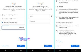 Cara Membuat Akun Google Baru Di HP Android Tanpa Nomor HP (SIM Card) 3