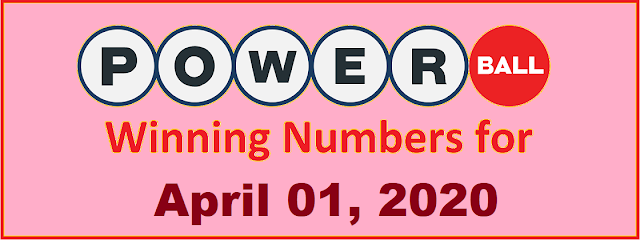 PowerBall Winning Numbers for Wednesday, April 01, 2020