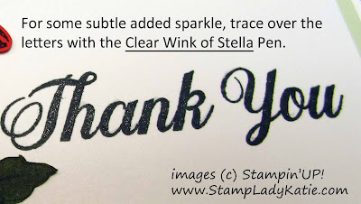 Close-up of the sparkle from the Wink of Stella Pen