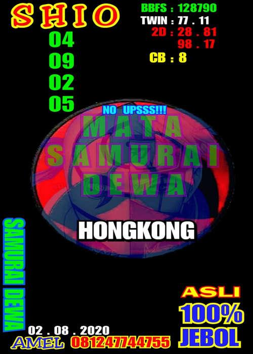 Kode syair Hongkong Minggu 2 Agustus 2020 26