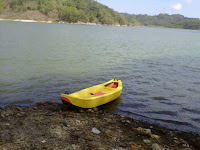 Perahu kayak sit on top berbahan EVA