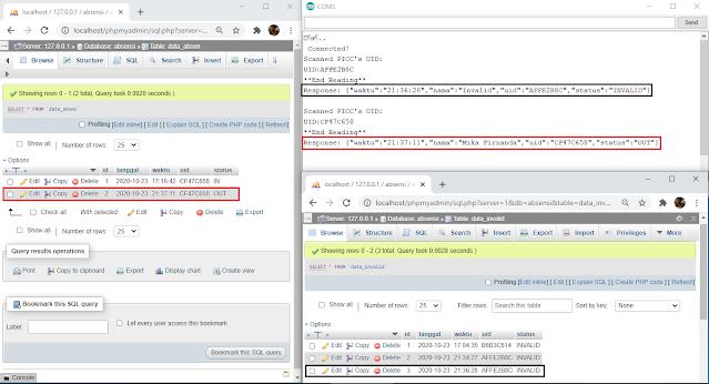 absensi online nodemcu arduino rc522