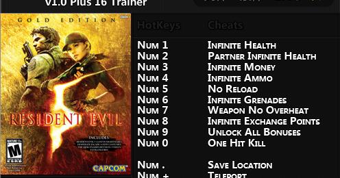 Resident evil 5 gold edition трейнер скачать