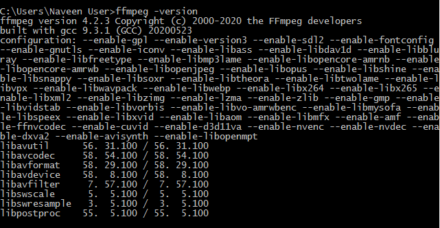 ffmpeg-version-command-output