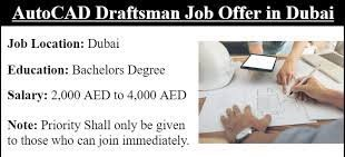 AutoCAD Drafter Job Recruitment in Construction Company Dubai, UAE Location
