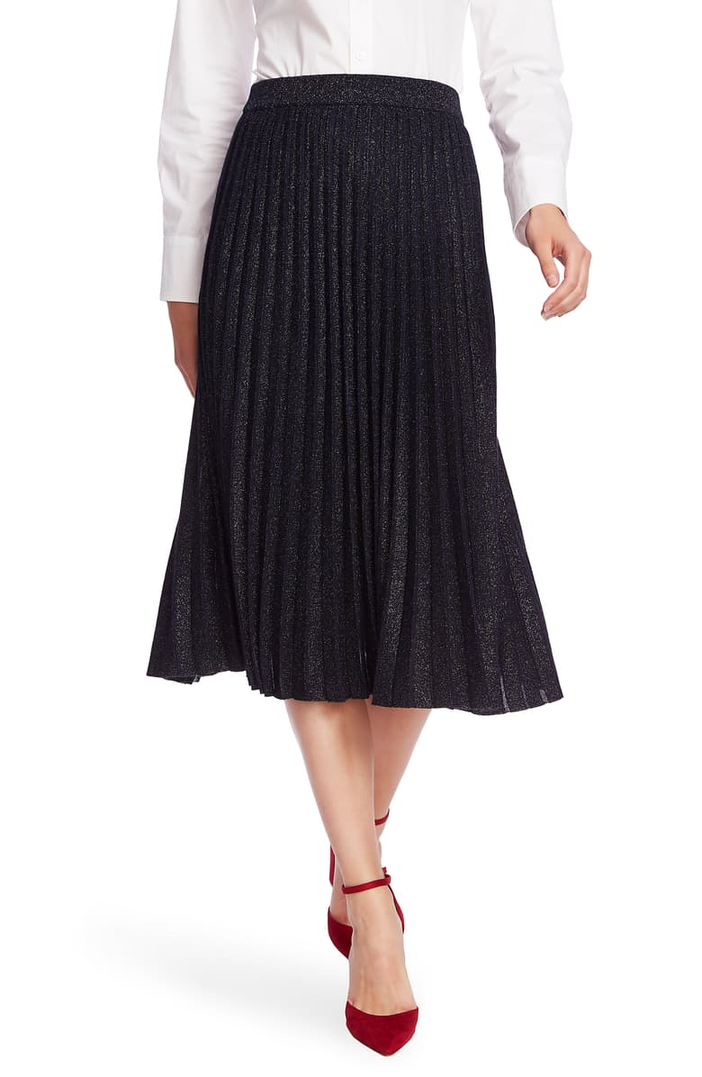 Court and Rowe Midi Metallic Skirt