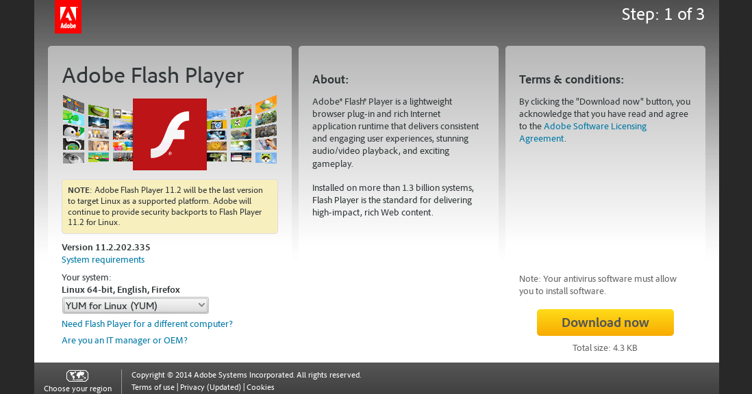 download adobe flash player update