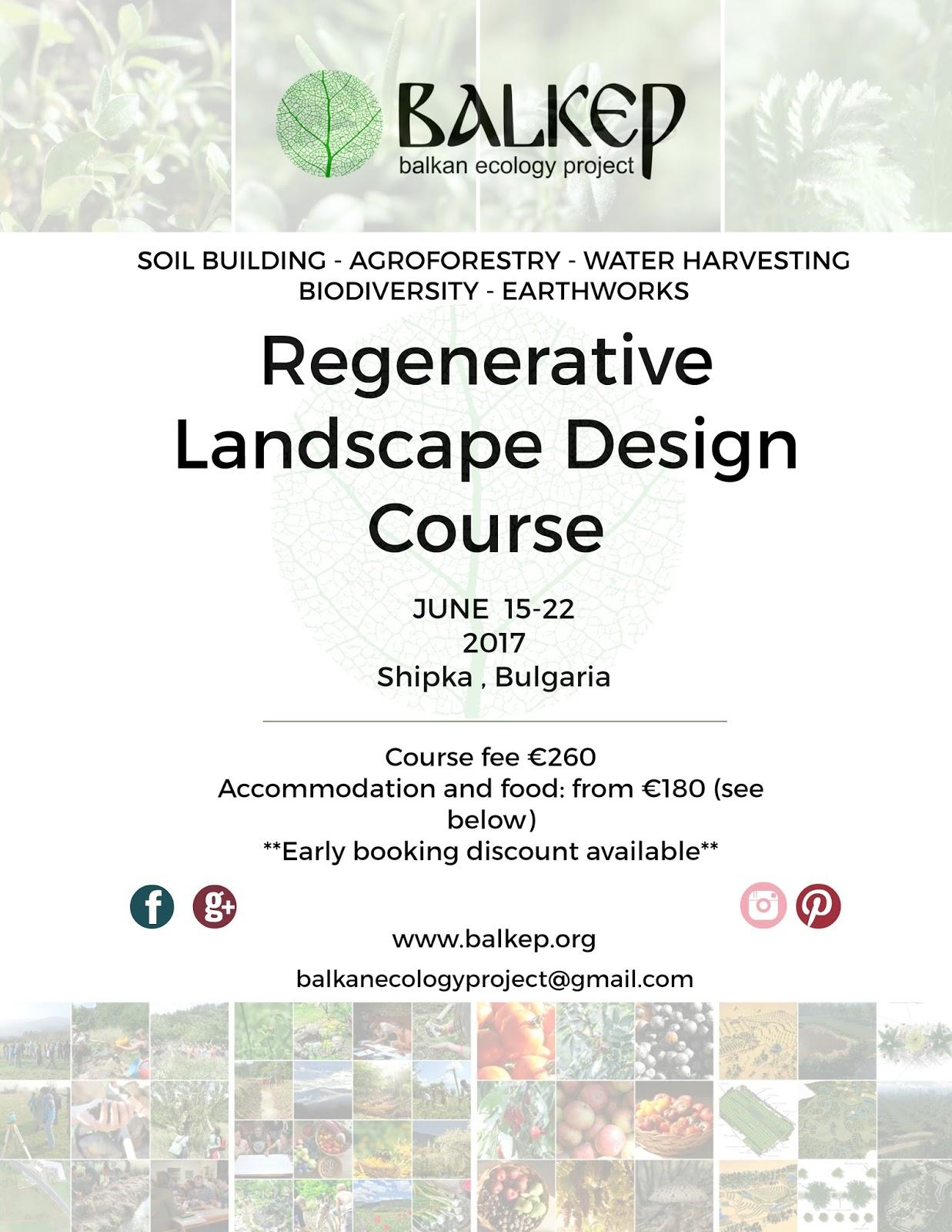 Balkan ecology project preparation for the regenerative for Landscape design training