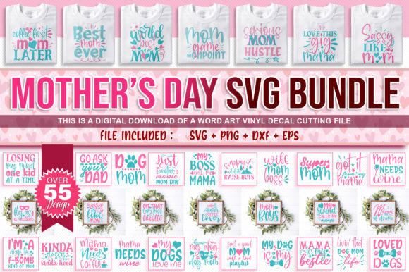 Free Suitable for apparel, scrapbooks, and many more. Free Svg Mother S Day Design Bundle SVG, PNG, EPS, DXF File