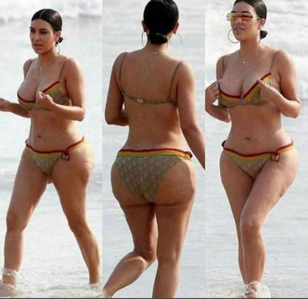 Kim Kardashian S Ass Fake On Beach