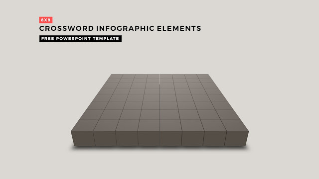 Crossword Puzzles Infographic Elements with 8x8 Basic Frame for PowerPoint Templates