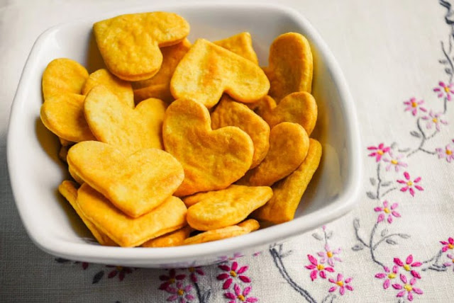 Sweet Potato Crackers #easy #healthy