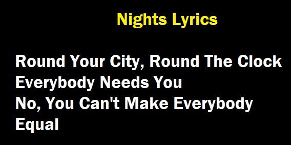 Nights Lyrics