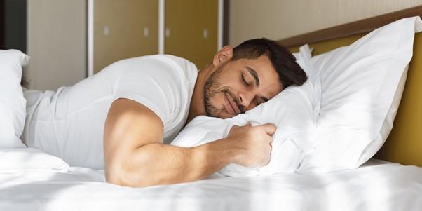 sleep, bed, pillow, men