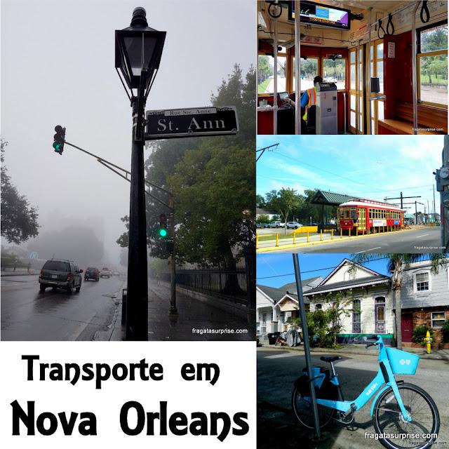 Opções de transporte em Nova Orleans