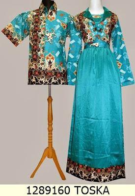 Baju Gamis Batik Pesta Muslim Sarimbit