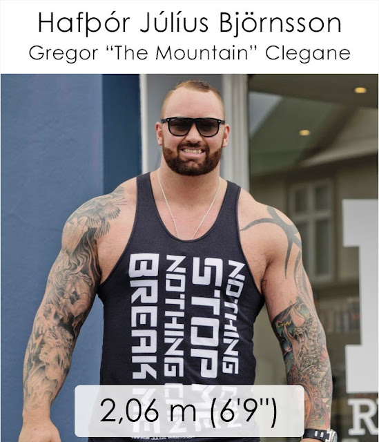 "Gregor ""The Mountain"" Clegane 2.06 m"