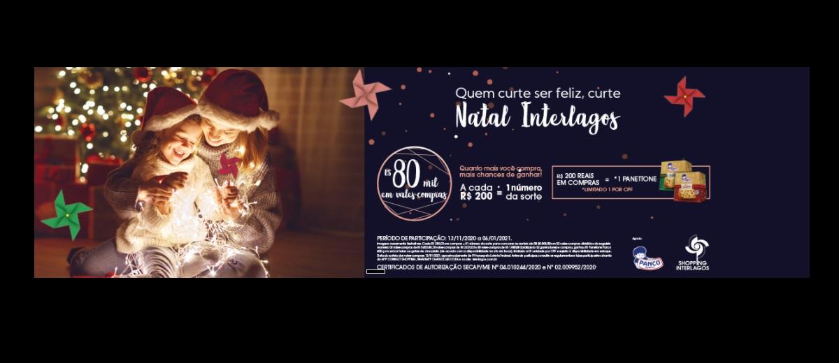 Promoção Natal 2020 Shopping Interlagos Ganhe Panetones Concorra 80 Mil em Vales-Compras