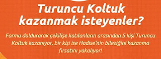 Turuncu Koltuk ve Bilezik Çekilişi