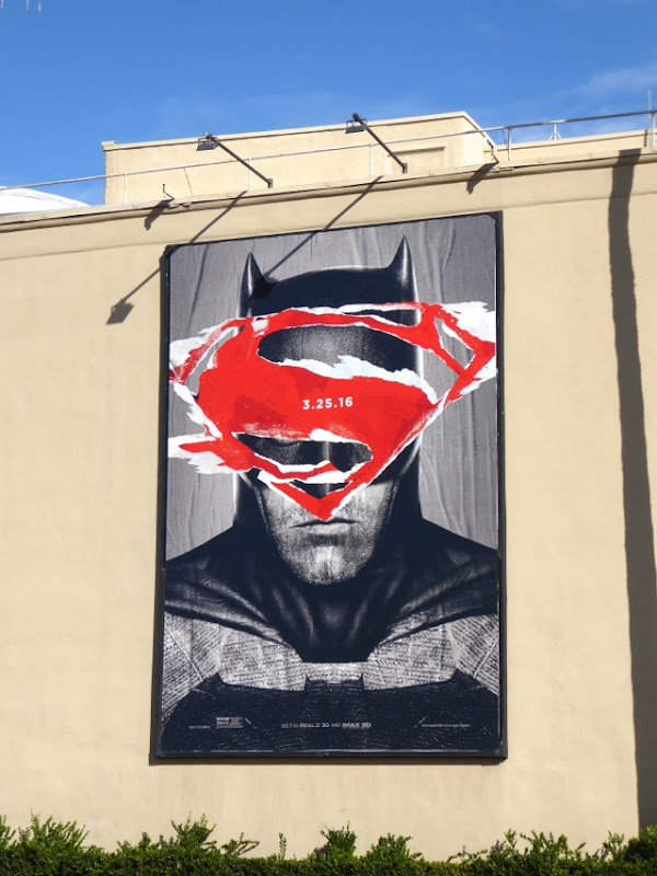 Batman v Superman Dawn of Justice teaser billboard